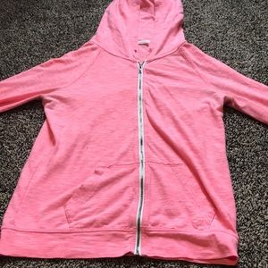 pink american eagle light sweater